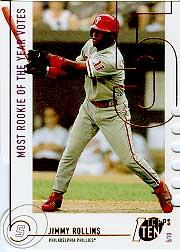 2002 Topps Ten Die Cuts #125 Jimmy Rollins ROY