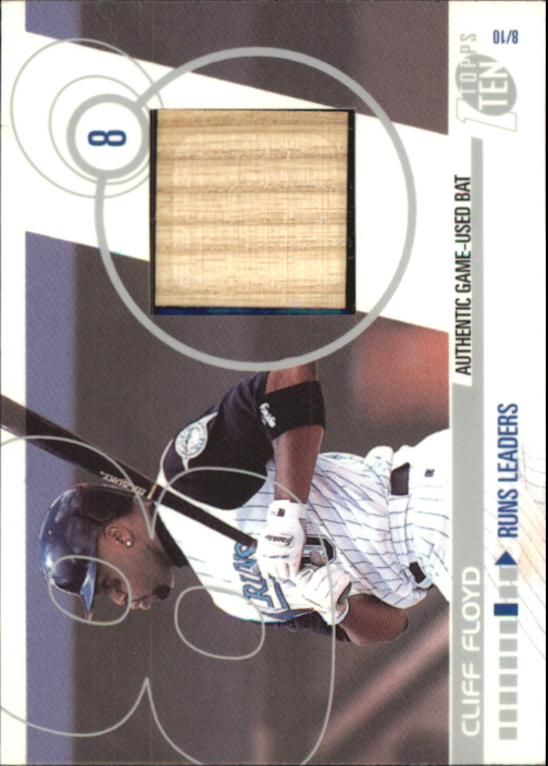 2002 Topps Ten Relics #TTRCF Cliff Floyd Bat C