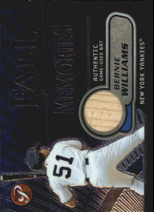 2002 Topps Pristine Fall Memories #BW Bernie Williams Bat B
