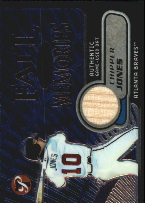 2002 Topps Pristine Fall Memories #CJ Chipper Jones Bat A