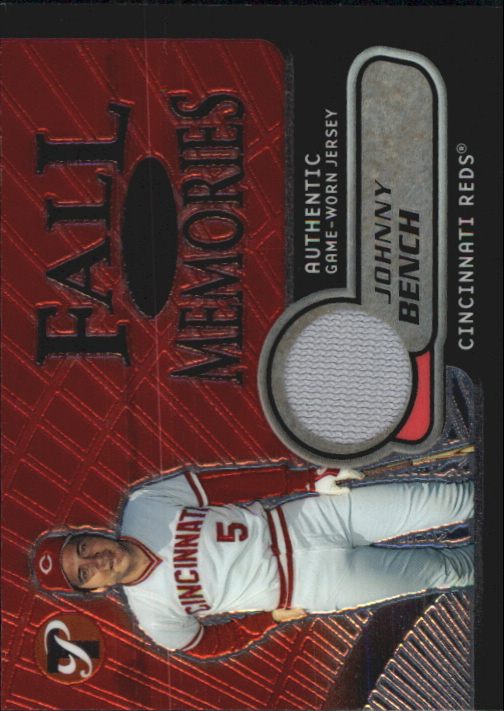 2002 Topps Pristine Fall Memories #JB Johnny Bench Jsy B
