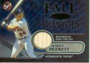 2002 Topps Pristine Fall Memories #KP Kirby Puckett Bat A