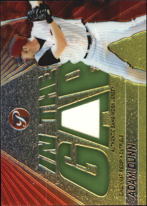 2002 Topps Pristine In the Gap #AD Adam Dunn Jsy B