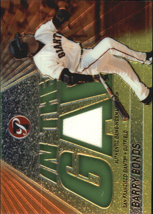 2002 Topps Pristine In the Gap #BBO Barry Bonds Uni B