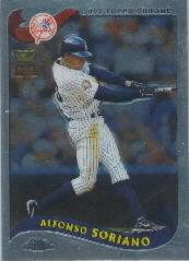 2002 Topps Chrome #95 Alfonso Soriano