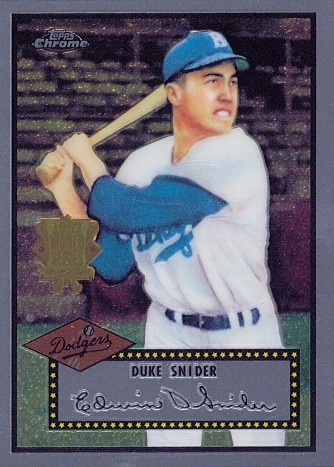 2002 Topps Chrome 1952 Reprints #52R2 Duke Snider