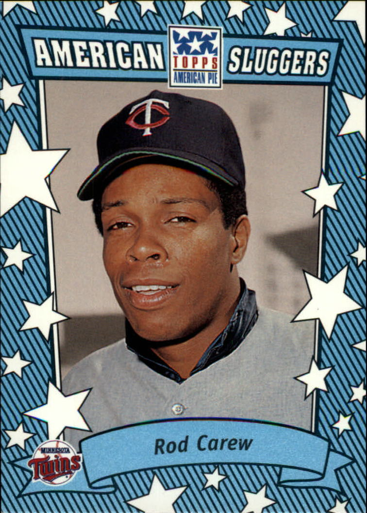 2002 Topps American Pie Sluggers Blue #1 Rod Carew front image