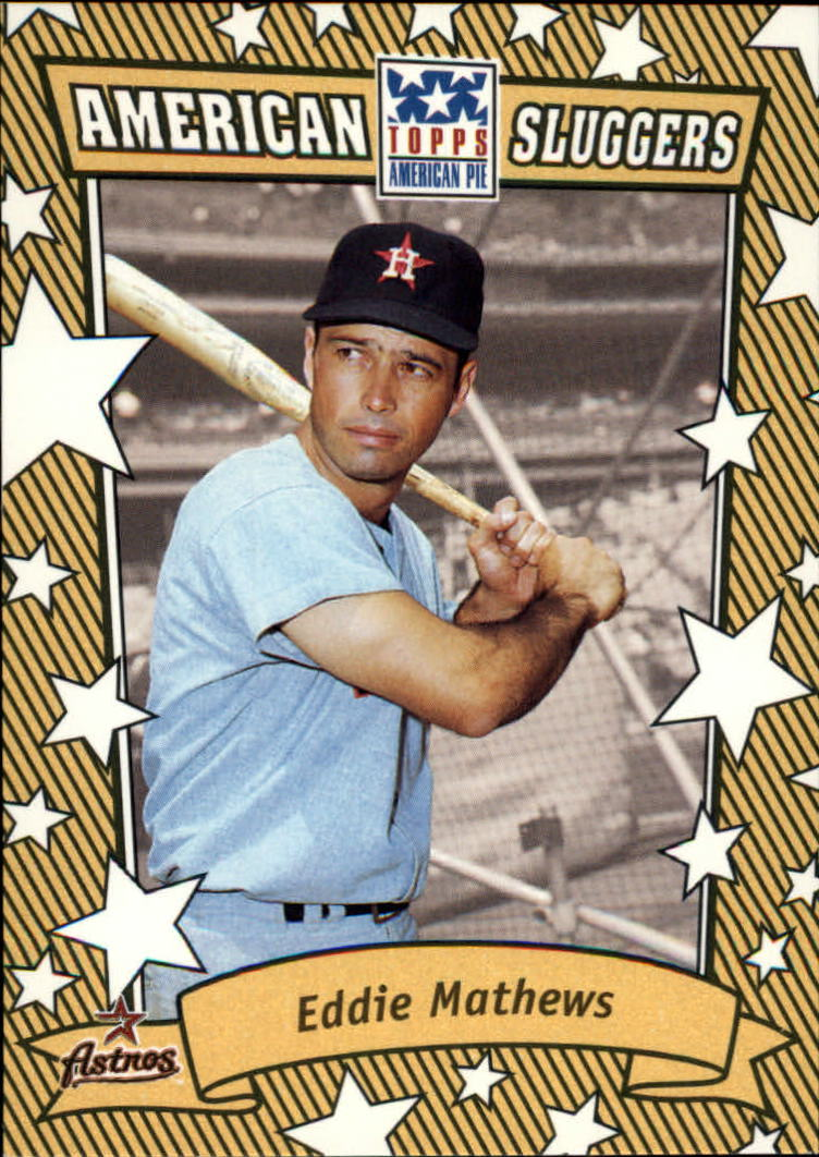 2002 Topps American Pie Sluggers Gold #18 Eddie Mathews