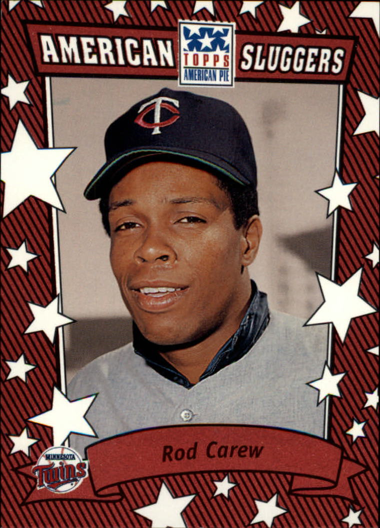 2002 Topps American Pie Sluggers Red #1 Rod Carew front image