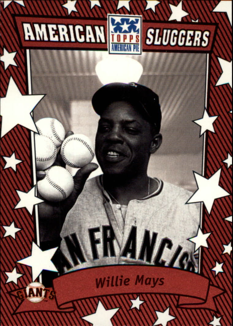 2002 Topps American Pie Sluggers Red #14 Willie Mays