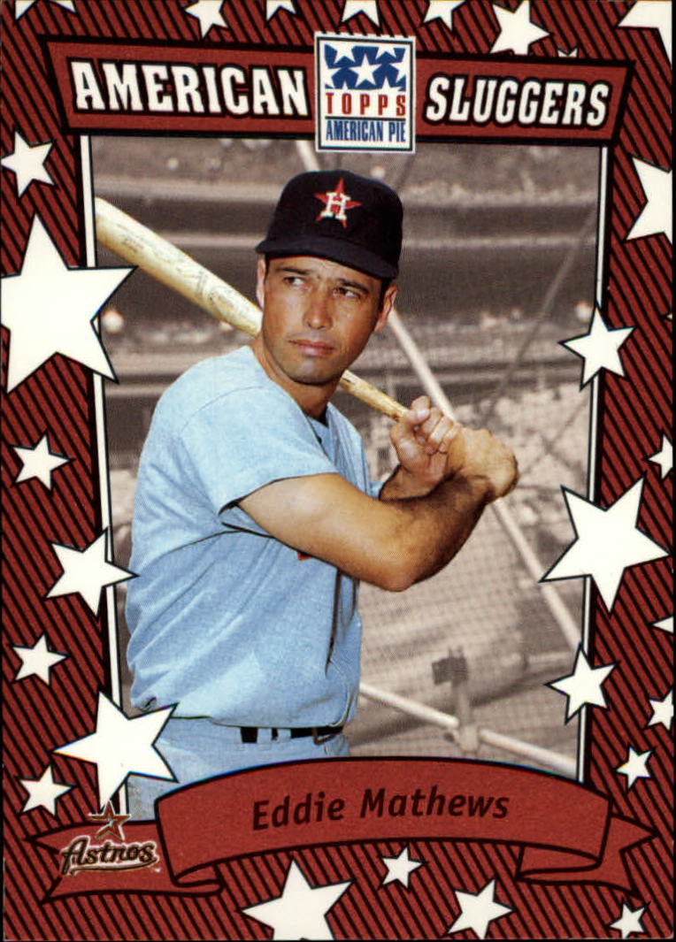 2002 Topps American Pie Sluggers Red #18 Eddie Mathews