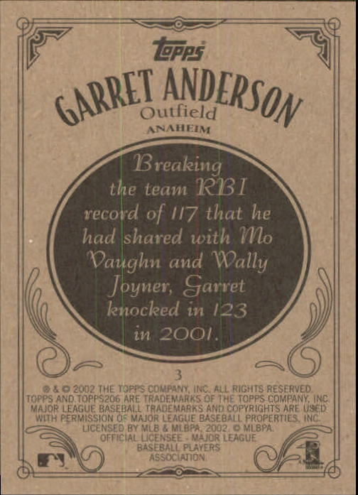 2002 Topps 206 #3 Garret Anderson