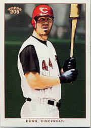 2002 Topps 206 #187B Adam Dunn w/Bat
