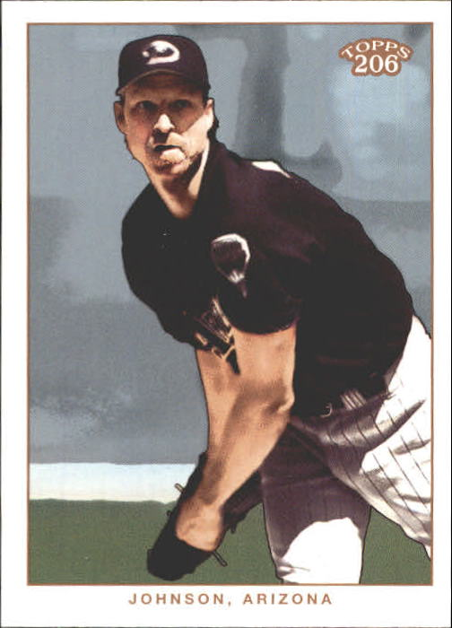 2002 Topps 206 #195A Randy Johnson Black Jsy