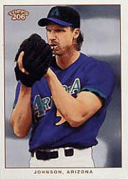 2002 Topps 206 #195B Randy Johnson Purple Jsy
