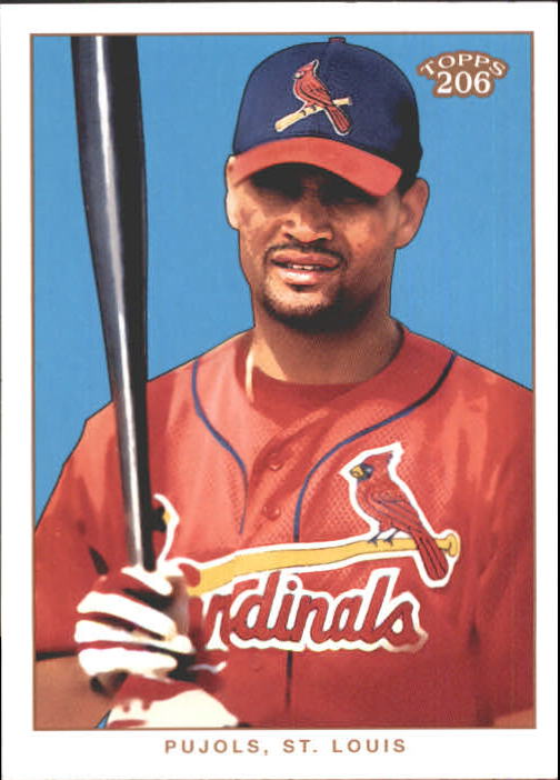 2002 Topps 206 #200A Albert Pujols Red Jsy