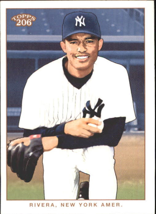 2002 Topps 206 #215A Mariano Rivera Arms Folded