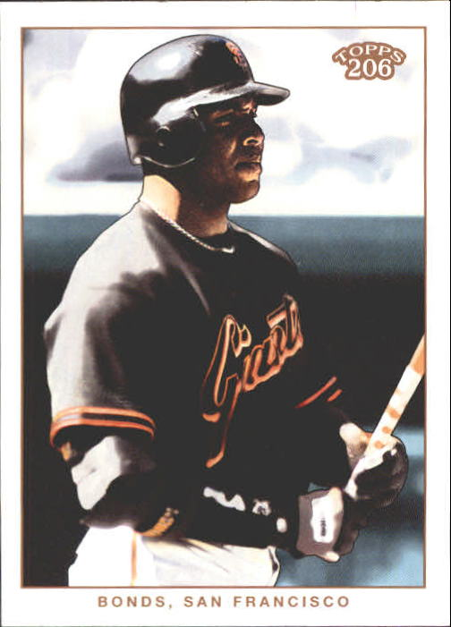 2002 Topps 206 #238A Barry Bonds Black Jsy