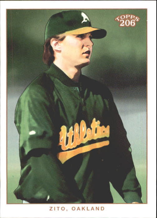2002 Topps 206 #244A Barry Zito Green Jsy