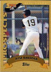 2002 Topps Traded Gold #T180 Jose Bautista
