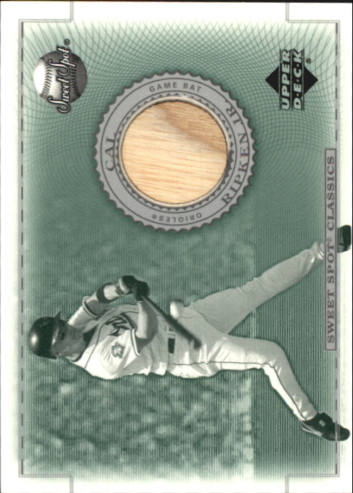 2002 Sweet Spot Classics Game Bat #BCR Cal Ripken DP