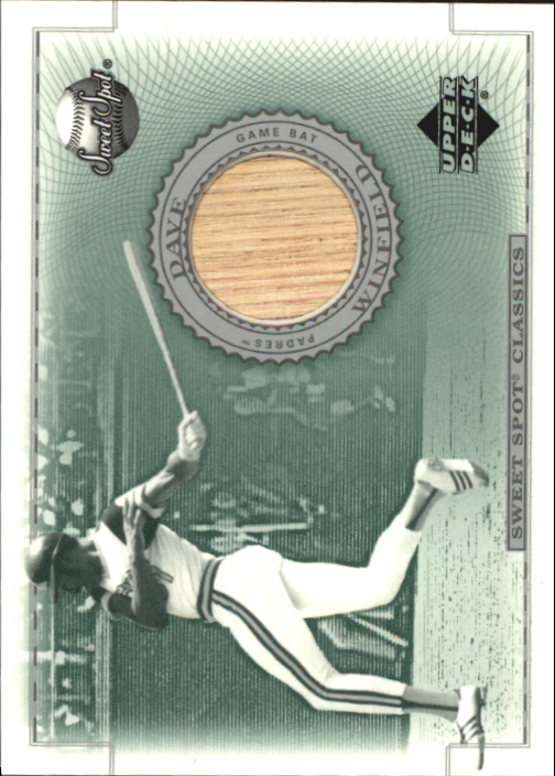 2002 Sweet Spot Classics Game Bat #BDW Dave Winfield DP