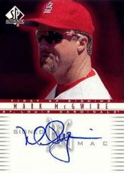 2002 SP Authentic Signed Big Mac #MM4 Mark McGwire/4