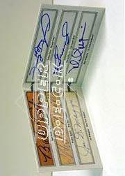 2002 SP Authentic Signs of Greatness #SOG Babe Ruth/Joe DiMaggio/Mickey Mantle/Ken Griffey Jr./Sammy Sosa/Mark McGwire