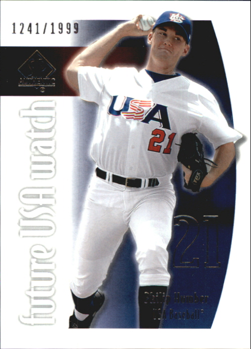 2002 SP Authentic USA Future Watch #USA2 Philip Humber