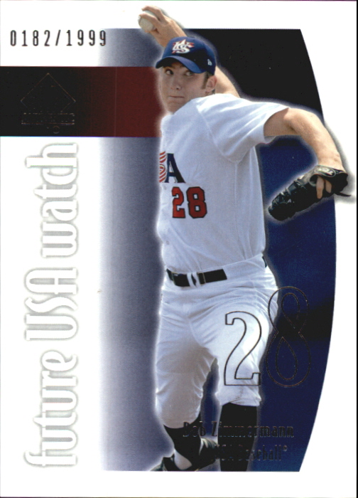 2002 SP Authentic USA Future Watch #USA8 Bob Zimmermann