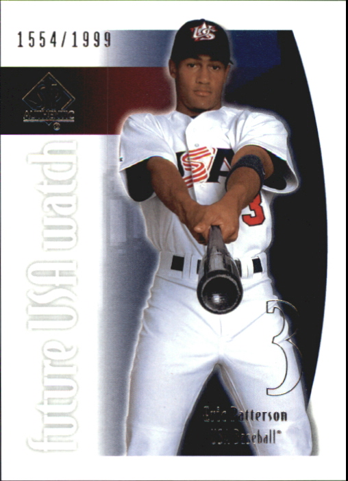 2002 SP Authentic USA Future Watch #USA16 Eric Patterson
