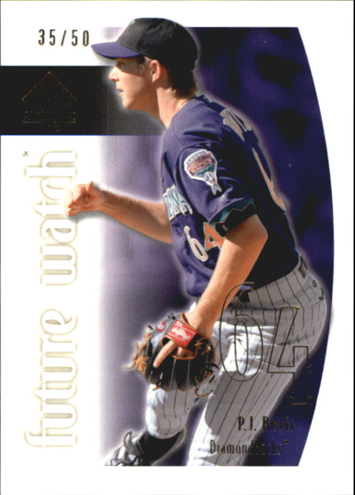 2002 SP Authentic Limited Gold #107 P.J. Bevis FW
