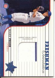 2002 Leaf Rookies and Stars Freshman Orientation #9 Mark Prior Jsy