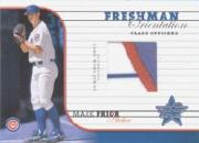 2002 Leaf Rookies and Stars Freshman Orientation Class Officers #9 Mark Prior Jsy