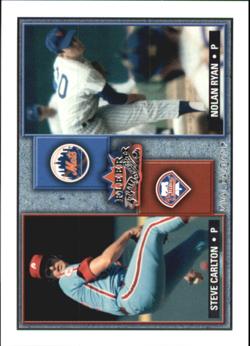 2002 Fleer Fall Classics Rival Factions #4 S.Carlton/N.Ryan