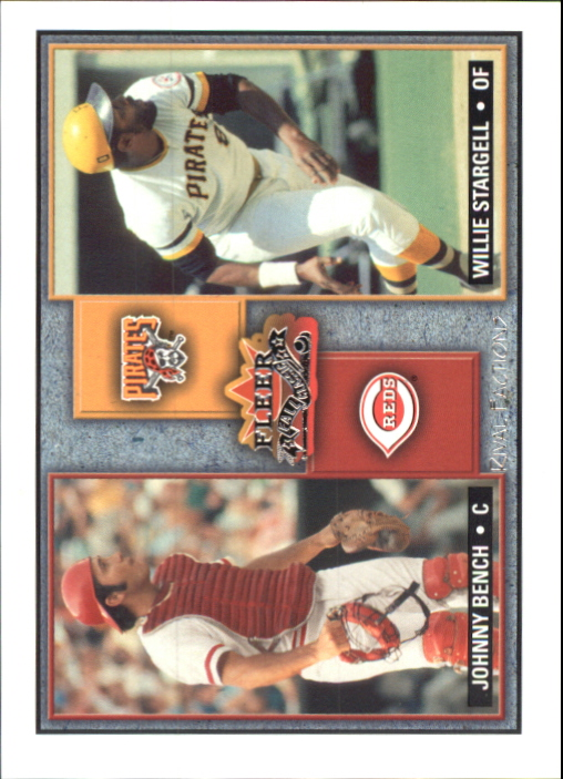 2002 Fleer Fall Classics Rival Factions #10 J.Bench/W.Stargell