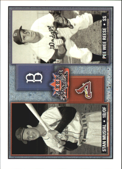 2002 Fleer Fall Classics Rival Factions #20 S.Musial/P.Reese