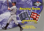 2002 Fleer Box Score Amazing Greats #5 Todd Helton