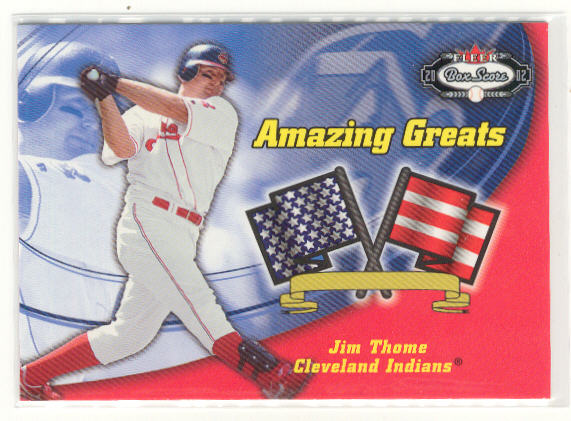 2002 Fleer Box Score Amazing Greats #7 Jim Thome