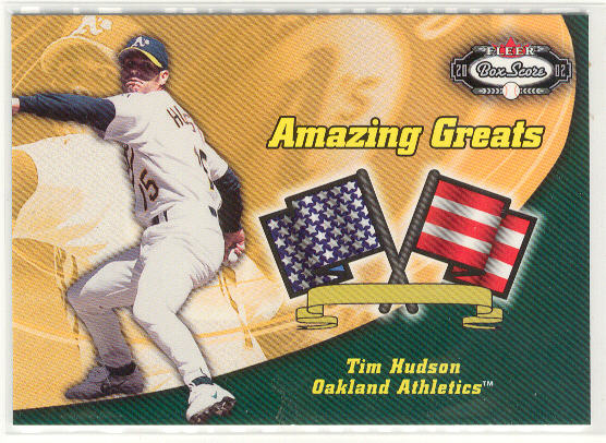 2002 Fleer Box Score Amazing Greats #12 Tim Hudson