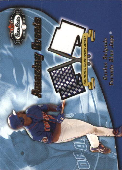 2002 Fleer Box Score Amazing Greats Single Swatch #4 Carlos Delgado