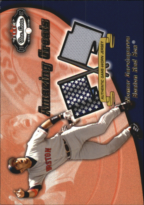2002 Fleer Box Score Amazing Greats Single Swatch #5 Nomar Garciaparra