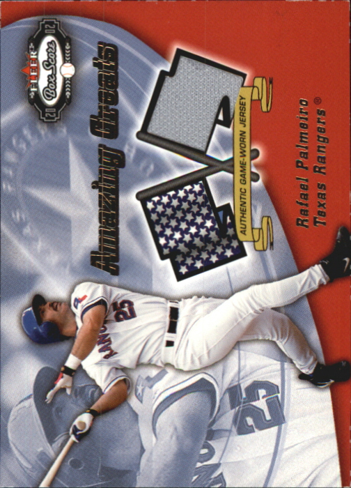 2002 Fleer Box Score Amazing Greats Single Swatch #9 Rafael Palmeiro