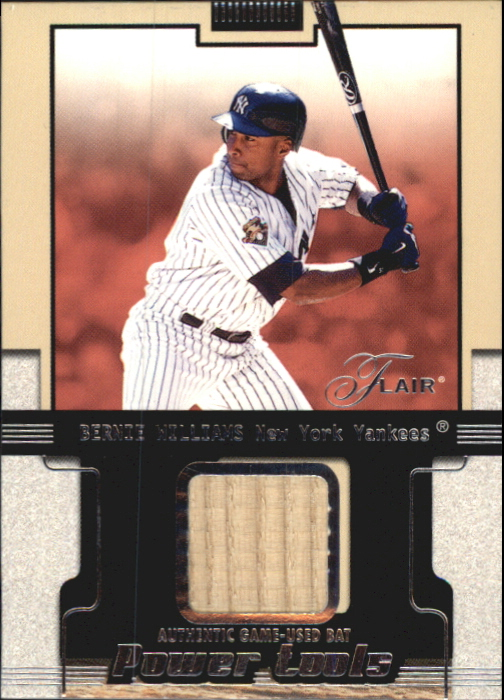 2002 Flair Power Tools Bats #28 Bernie Williams