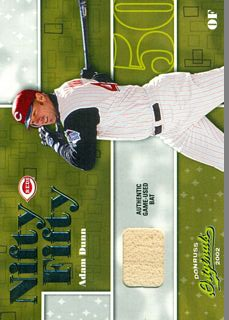 2002 Donruss Originals Nifty Fifty Bats #36 Adam Dunn