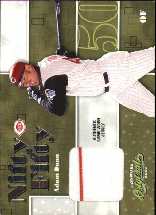 2002 Donruss Originals Nifty Fifty Jerseys #36 Adam Dunn