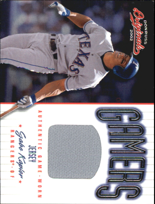 2002 Donruss Originals Gamers #9 Gabe Kapler/500
