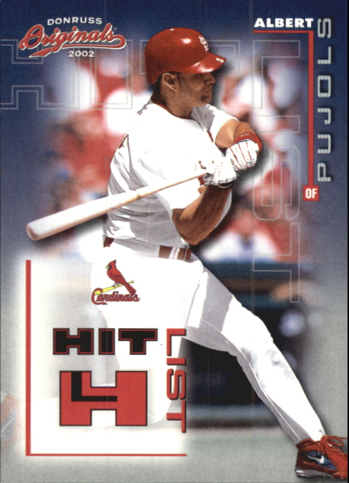 2002 Donruss Originals Hit List #8 Albert Pujols