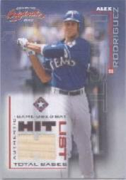 2002 Donruss Originals Hit List Total Bases #3 Alex Rodriguez Rgr Bat/393