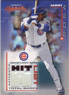 2002 Donruss Originals Hit List Total Bases #10 Sammy Sosa Base/425